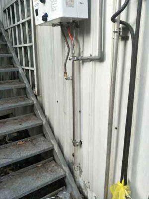 山川接頭-在瓦斯熱水器的應用